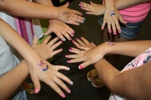 Girls Play dates on Long Island -nail art!