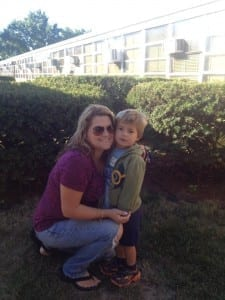 This is Dina with her handsome son. Believe