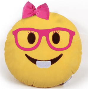 Where Did Emoji's Come From? Emoji Pillows Pink Glasses